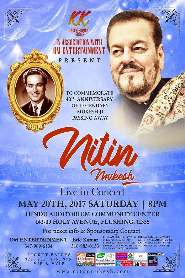 Nitin Mukesh Live in Concert NY