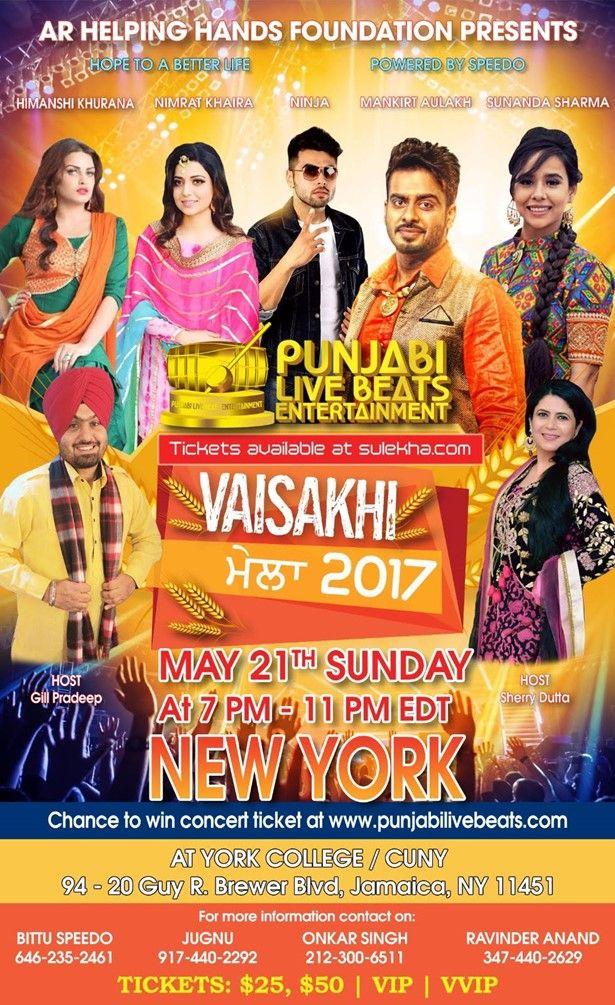 Vaisakhi Mela 2017  Live In Concert Ninja , Mankirt Aulakh , Sunanda Sharma,